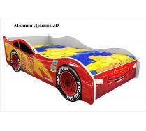 Детская кровать машина Молния 3D Домико (спальное место 160х75см)