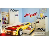 Кровать-машина Шевроле Камаро + модули Фанки Авто - комод К1, тумба Т5, шкаф Ш3, стеллаж С2