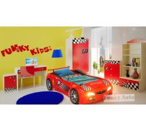 Кровать машина Фанки Спорт + мебель Фанки Авто