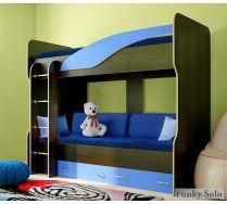 Двухъярусная кровать Фанки Соло 4. Сп. место 200х80 см. + Комплект мякгих подушек и наматрасник.