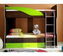 Кровать Фанки Соло 4 для двоих детей. Сп. место 200х80 см