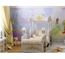 Детская кровать Карета от фабрики Red River спальное место 170х70см