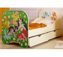Кровать детская Пони Кр-6 сп.место 160х80см с 2 выдвижными ящиками