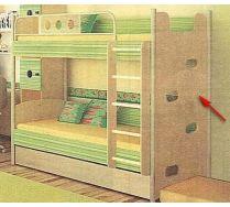 Двухъярусная кровать - серия Полосатый рейс