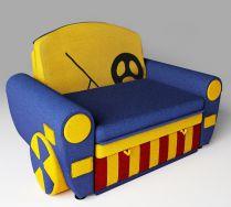 Детский диван кровать Бумер цвет: синий
