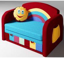 Детский диван кровать Радуга цвет: красный