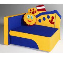 Детский диван кровать Морячок цвет:синий