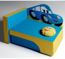 Детский диван кровать Молния Маккуин Цвет: синий