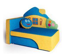 Детский диван кровать Домик цвет: синий