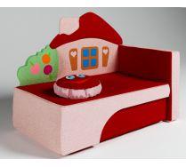 Детский диван кровать Домик цвет: красный