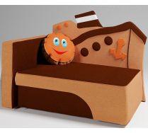 Детский диван кровать Морячок цвет: коричневый