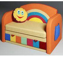 Детский диван кровать Радуга цвет: оранжевый