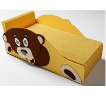 Детский диванчик Тедди цвет желтый две боковины