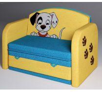 Детский раскладной мягкий диван Далматинец цвет желтый