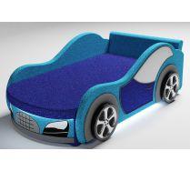 Диван кровать-машина Велюр с одной декоративной боковиной и 2-мя колесами