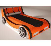 Детская кровать-машина Кабрио с двумя декоративными боковинами и  4-мя колесами