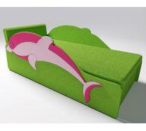 Детский диван Дельфин с одной фасадной боковиной