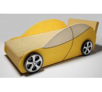 Диван - машина Сити с одной декоративной боковиной и 2-мя колесами