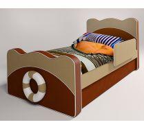 Детская мягкая кровать Капитан для двоих детей