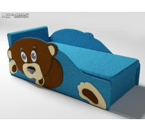 Детский диван Тедди цвет синий с одной боковиной