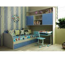 Детская комната Факни Кидз 13/62 мост надкроватный + 13/52 кровать + Фанки Деск парта