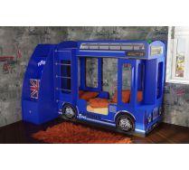 Детская кровать двухъярусная в виде автобуса Лондон + тумба лестница