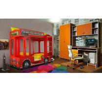 Кровать автобус Лондон + стол с надстройкой 13/14 СВ + шкаф двухдверный 13/3 СВ