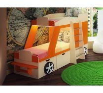 Кровать-машина Джип с подсветкой для двоих детей