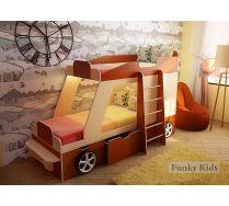 Кровать-машина Джип для двоих детей от 3-х лет