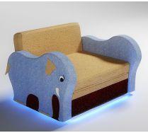 Мягкий диван Слоник с подсветкой