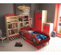 Кровать в виде машины Тесла + фанки Авто мебель