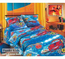 Детское постельное 1.5 спальное белье Гонки Хлопок, Бязь.