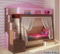 Кровать двухъярусная Фанки Хоум Замок артикул 11002