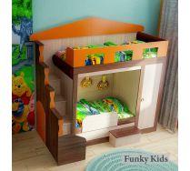 Кровать для двоих детей Фанки Хоум + бортик артикул 11003