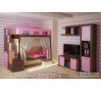 Кровать для 2-х детей Фанки Хоум Замок + ФТ04 + ФТ13 + ФТ07