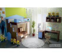 Кровать Фанки Хоум Замок арт. 11003 + ФТ14 + ФТ08 + ФТ09