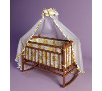 Кровать для новорожденного ребенка Фанки Литл (Funky Little) с матрацем и с качалкой