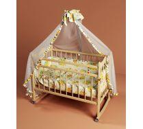 Кровать для новорожденных с колесами и балдахином  Funky Little (Фанки Литл)