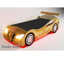 Кровать в виде машины для девочек, арт. 20003 + подсветка + спойлер