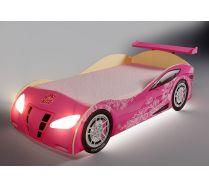 Кровать для девочек розовая Ниссан Фанки арт. 20003 + спойлер