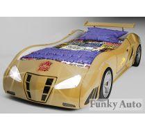Кровать машина объемная Фанки Enzo GOLD, размер матраца 190х90 см. Скидка 35%!