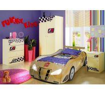 Кровать машина Фанки Enzo Gold + Шкаф ФА-Ш3 + комод ФА-К1 + тумба ФА + Т5