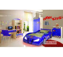 Объемная кровать машина Фанки Enzo + мебель Фанки Авто