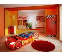 Кровать в виде машины Молния Маквин арт. 20004 + мебель Фанки Авто