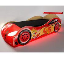 Кровать-машина Молния Маквин с пластиковым бампером, арт. 20004
