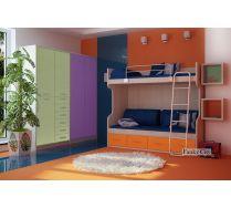 Детская мебель Фанки Сити композиция 4