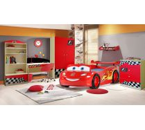 Кровать машина Маквин Молния арт 20005 +  мебель Фанки Авто