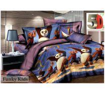Комплект 1,5 спального постельного белья Кунг-фу Панда