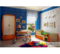 Детская комната Вырастайка: Шкаф ВР-011 + Парта ВР-017 + Кровать 3