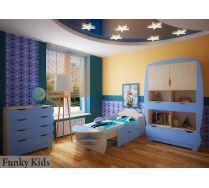 Мебель для детей Вырастайка: Стеллаж ВР-012 + кровать 5 + комод ВР-015